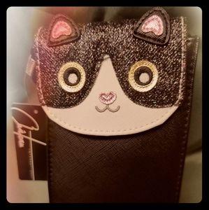 NWT Tuxedo cat phone case.